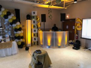 Sweet 16 setup in Whitehall,Pa Lehigh Valley Lehigh county dj Lighting