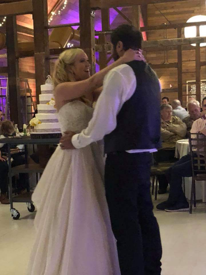 Bride & Groom's first dance at Bellgate farm in Coopersburg, Pa with Appalachian Entertainment Dj's